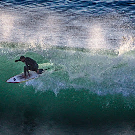 In the Curl by Brent Morris - Sports & Fitness Surfing