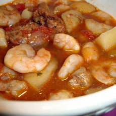 Portuguese Shrimp and Sausage Soup