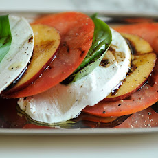 Tomato, Necatarine, and Mozzarella Salad