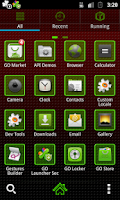 Screenshot of GO Launcher EX Marijuana Theme