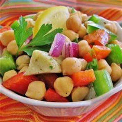 Garbanzo Bean and Pepper Salad