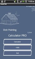 Screenshot of Dish Pointing Calculator Pro