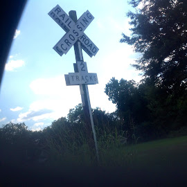 Railroad crossing by Terry Linton - Novices Only Objects & Still Life (  )