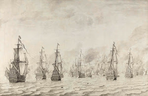 RIJKS: Willem van de Velde (I): The Battle of Dunkirk 1659