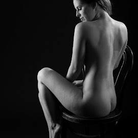 The Sitting by Martin Coombes - Nudes & Boudoir Artistic Nude ( nude, black and white )