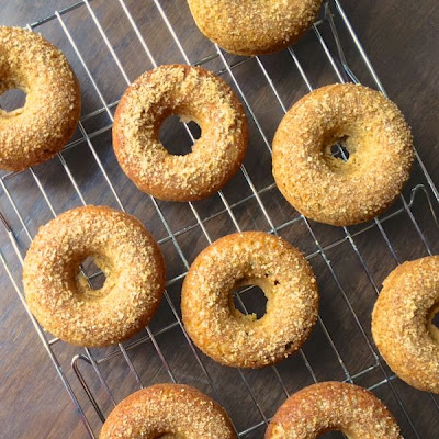 Apple Cider Donuts with Brown Sugar Topping