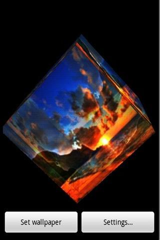3D日落海灘 001