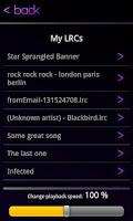 Screenshot of SingWithMe LRC Lyrics Player