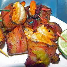 Bacon Wrapped Chilli Prawns