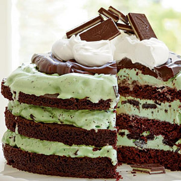 Mint Chocolate Chip Ice-Cream Cake