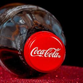 Coca cola by Vibeke Friis - Food & Drink Alcohol & Drinks ( red, bottletop, bottle,  )