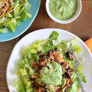 Easy Crock Pot Chicken and Black Bean Taco Salad