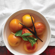 Minted Poached Peaches