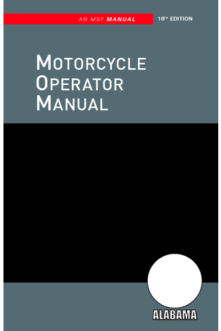 Alabama Motorcycle Manual