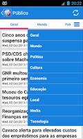 Screenshot of Portugal Notícias