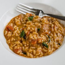 Roasted Bell Pepper Risotto