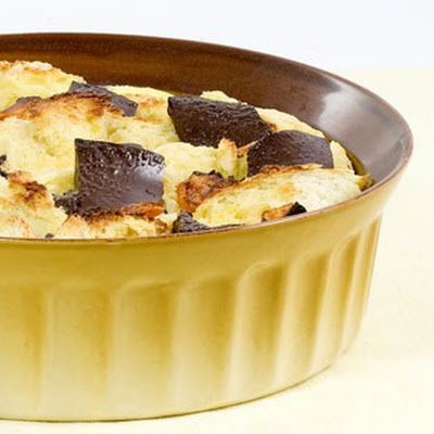 Banana, Fruit Bread And Butter Pudding
