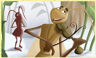 Screenshot of Ant and Grasshopper Storybook