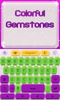 Screenshot of Gemstone GO Keyboard Theme