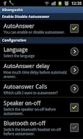 Screenshot of Auto Answer Handsfree Car
