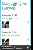 Screenshot of Learn to Juggle Clubs
