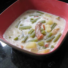 Green Bean Soup - Bou'neschlupp
