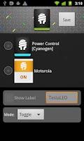 Screenshot of TeslaLED Flashlight