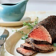 Roast Beef Tenderloin with Port Sauce