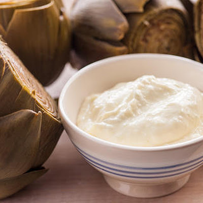 Steamed Artichokes with Green Garlic Aioli