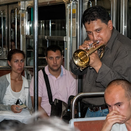 Paris Metro by Vibeke Friis - People Musicians & Entertainers ( paris, metro, musician, people,  )