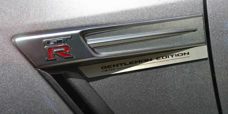 Nissan GT-R Gentlemans Edition badge