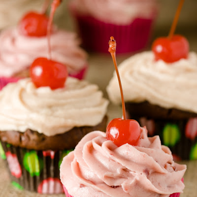 Chocolate Cherry Cupcake