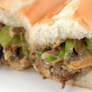 Cheesesteak with Onions & Green Peppers