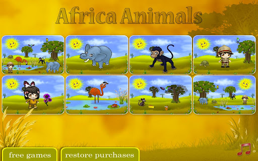 Africa Animal Puzzel For Kids