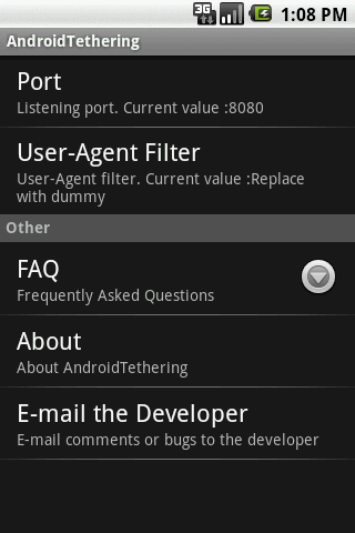 tethering for android screenshot