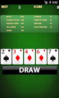 Screenshot of Video poker [card game]