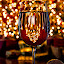 by Karen Celella - Food & Drink Alcohol & Drinks ( wine, lights, new, reflection, new year, christmas, year, cheers, toast, bokeh )
