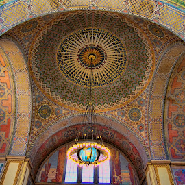 World of Discovery by Shaun Davidson - Buildings & Architecture Architectural Detail ( public library, california, library, los angeles, architecture )