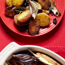 Roasted New Potatoes with Lemon, Oregano, and Olives