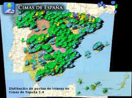Screenshot of Cimas de España