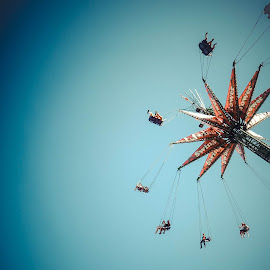 swing tower by Ian Pettigrew - City,  Street & Park  Amusement Parks ( tower, cne, park, amusement, swing, people )