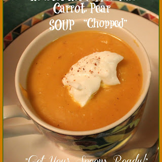 Roasted Red Pepper, Yam, Carrot, Pear Soup