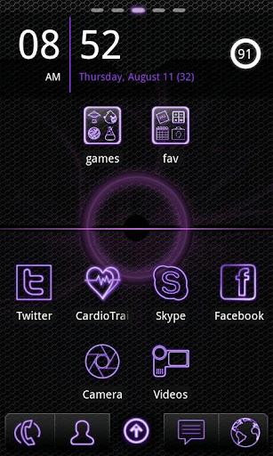紫色霓虹燈圍棋發射EX