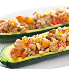 Middle Eastern Stuffed Zucchini Boats Recipe