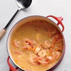 Butternut Squash Soup with Shrimp