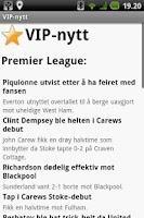 Screenshot of VIP nytt - Alle norske nyheter