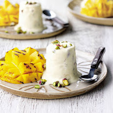 Rosewater & Pistachio Kulfi With Griddled Mangoes