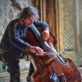 Cellist in Central Park by Ferdinand Ludo - Digital Art People ( cellist, new york city, central park )
