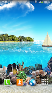 Tropical Ocean Live Wallpaper - screenshot