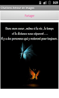 Screenshot of Images d'amour et citations
